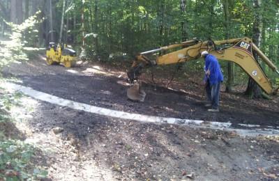 Oprava cesty Křížový vrch Stod